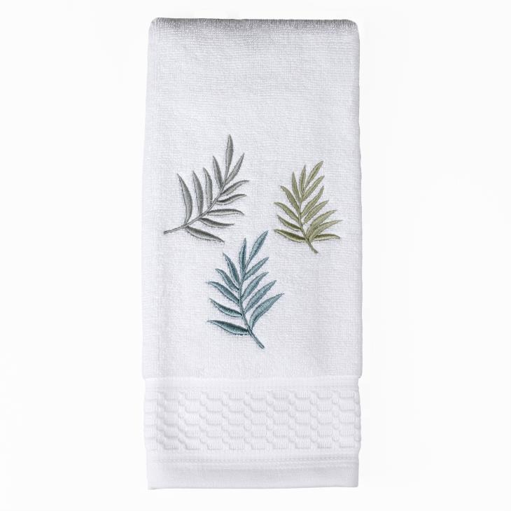 Picture of Maui Embroidered Hand Towel in White
