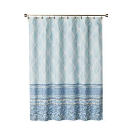 Image of Boho Paisley Fabric Shower Curtain