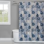 Image of Cubes Fabric Shower Curtain