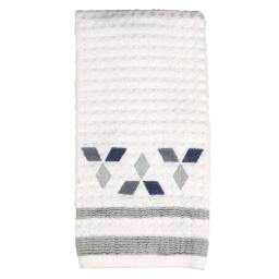 Image of Cubes Hand Towel in White