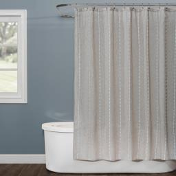 Image of Davidson Stripe Fabric Shower Curtain