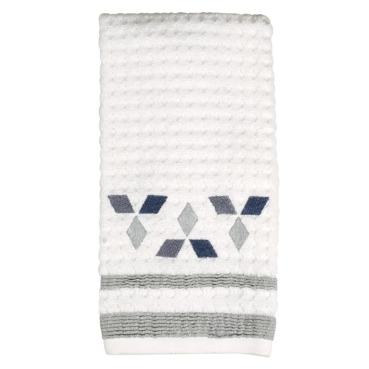 Picture of Cubes Hand Towel in White