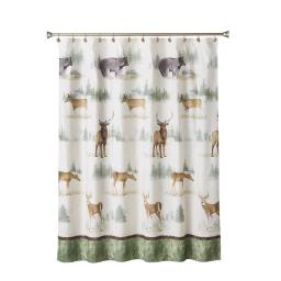 Image of Home On The Range Fabric Shower Curtain