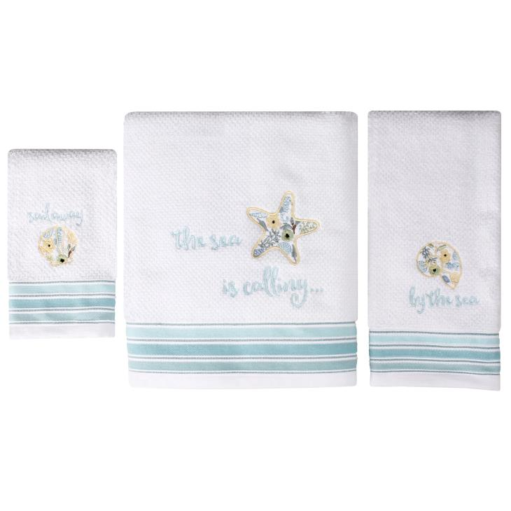 Picture of Seaside Blossoms Tip Towel