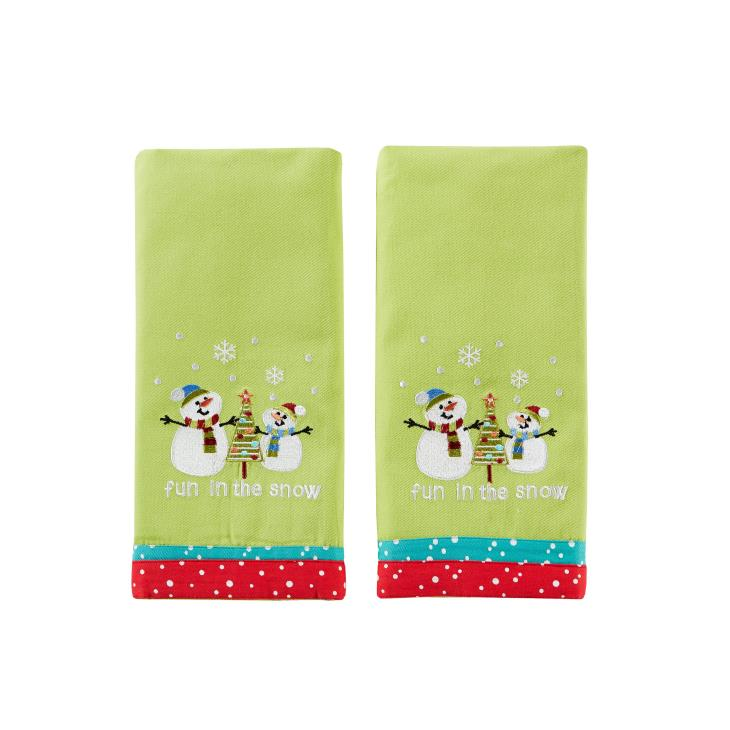 Picture of Fun in the Snow 2-Piece Dish Towel Set