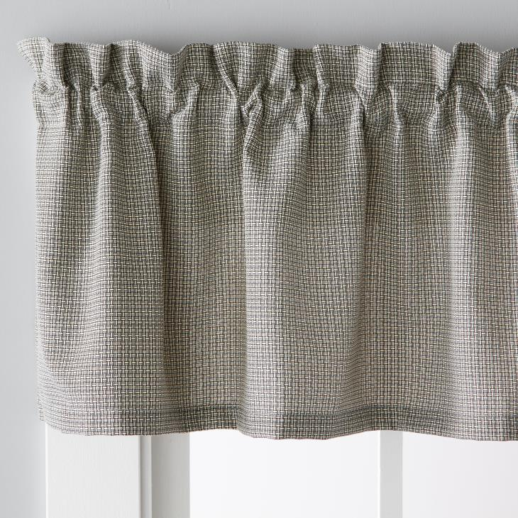"Picture of Nelson 13"" Window Valance in Black"