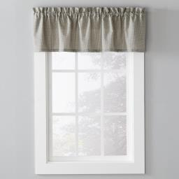 "Image of Nelson 13"" Window Valance in Black"