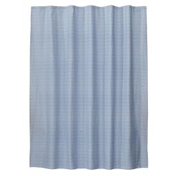 Image of Chambray Squares Fabric Shower Curtain