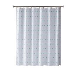 Image of Colorful Dot Shower Curtain in Aqua