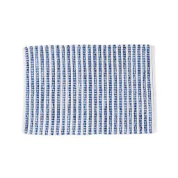 Image of Kali Stripe Rug in Blue/White