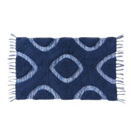 Image of Kali Diamond Rug in Midnight Blue