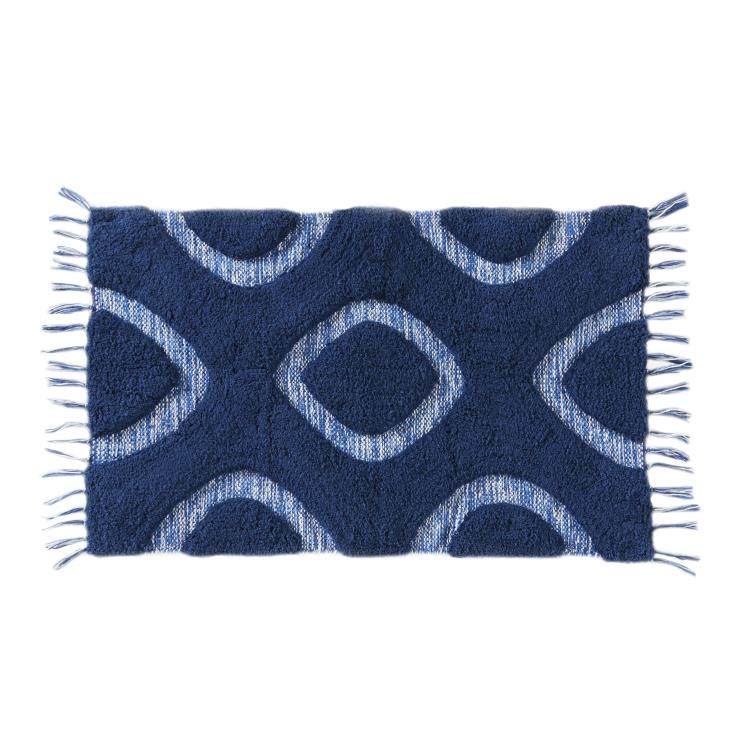 Picture of Kali Diamond Rug in Midnight Blue