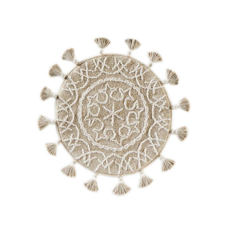 Picture of Medallia Round Rug with Fringe