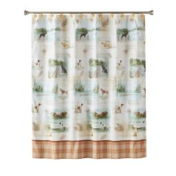 Image of Adirondack Dogs Fabric Shower Curtain