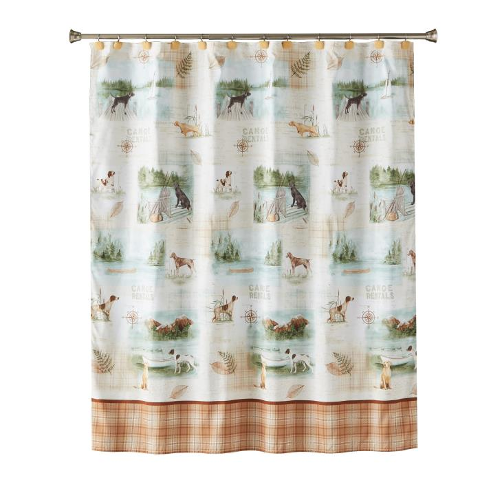 Picture of Adirondack Dogs Fabric Shower Curtain