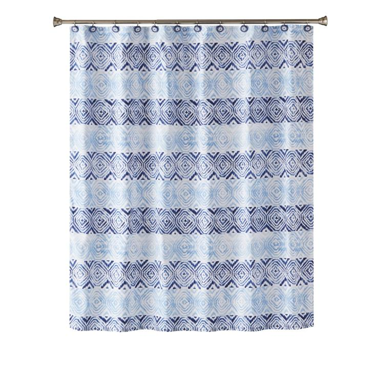 Picture of Kali Diamond Fabric Shower Curtain