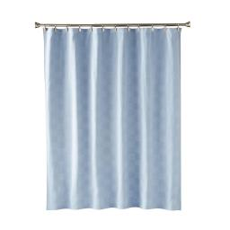 Image of Large Basketweave In Blue Fabric Shower Curtain