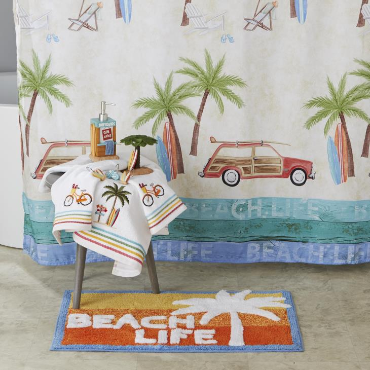 Picture of Paradise Beach Fabric Shower Curtain
