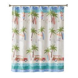 Image of Paradise Beach Fabric Shower Curtain