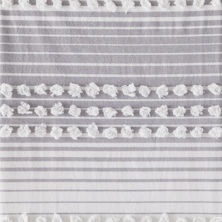 Picture of Puffed Stripe Fabric Shower Curtain