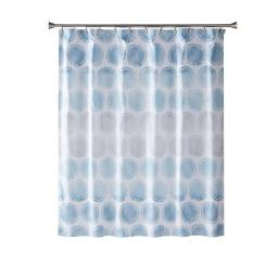 Image of Swag Circles Fabric Shower Curtain