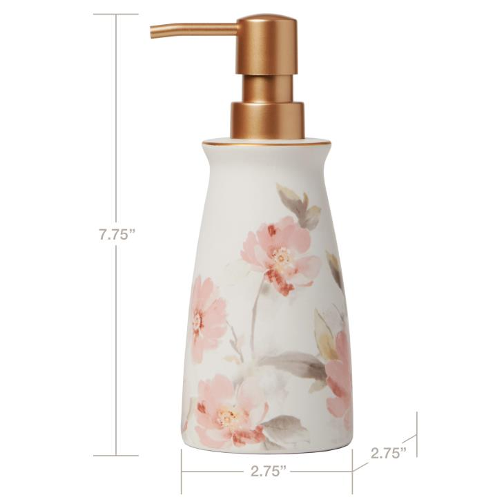 Picture of Misty Floral Lotion/Soap Dispenser