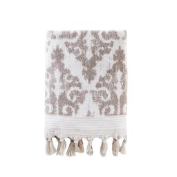 Image of Mirage Fringe Bath Towel in Taupe