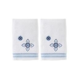 Image of Kali 2-Piece Hand Towel Set in White