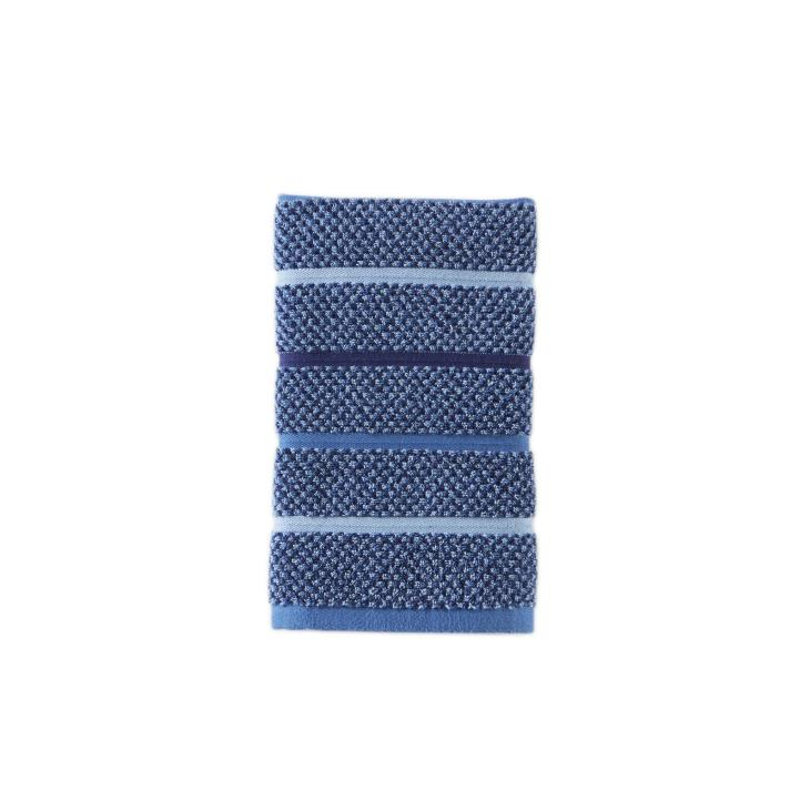 Picture of Kali Stripe 2-Piece Hand Towel Set in Midnight