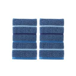 Image of Kali Stripe 2-Piece Hand Towel Set in Midnight