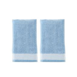 Image of Kali 2-Piece Hand Towel Set in Wedgewood