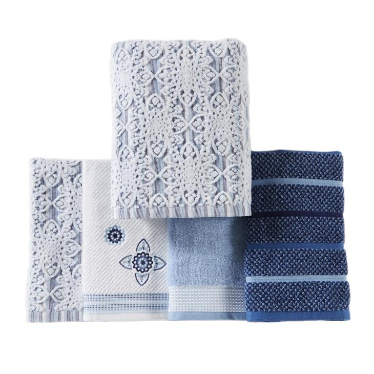 Picture of Kali 2-Piece Hand Towel Set in Smoke