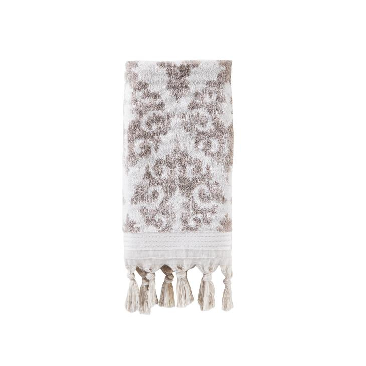 Picture of Mirage Fringe 2-Piece Hand Towel Set in Taupe