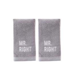 Image of Mr. Right 2-Piece Hand Towel Set