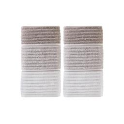 Image of Planet Ombre 2-Piece Hand Towel Set in Taupe