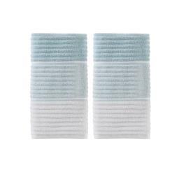 Image of Planet Ombre 2-Piece Hand Towel Set in Aqua