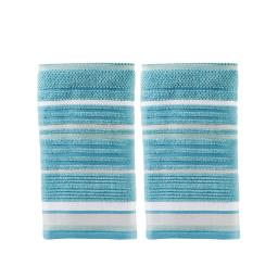 Image of Seabrook Stripe 2-Piece Hand Towel Set