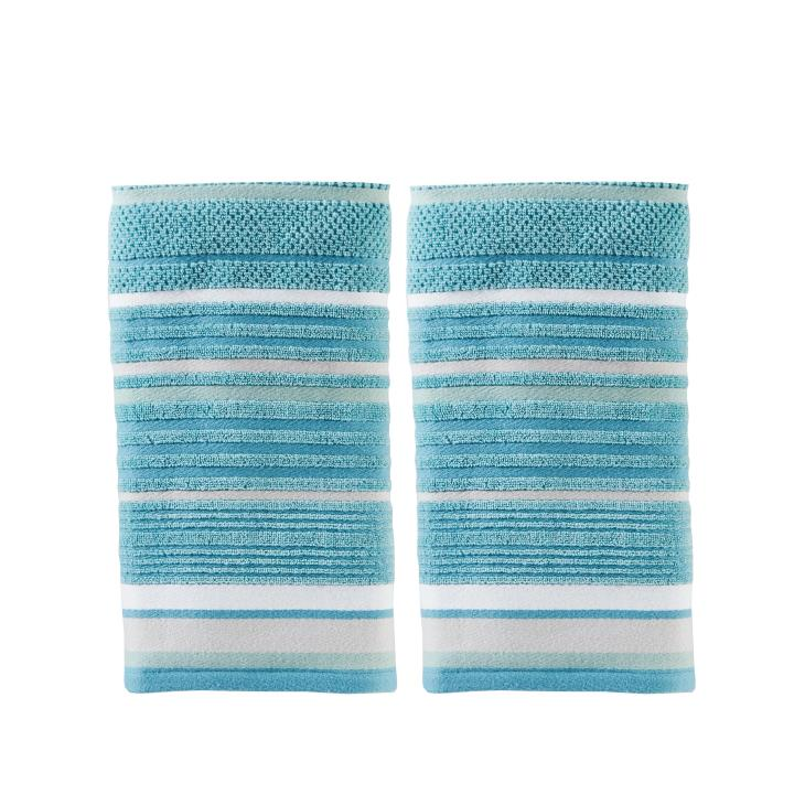 Picture of Seabrook Stripe 2-Piece Hand Towel Set
