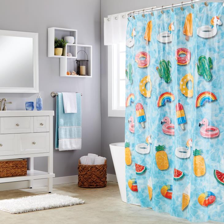 Picture of Floating About PEVA Shower Curtain