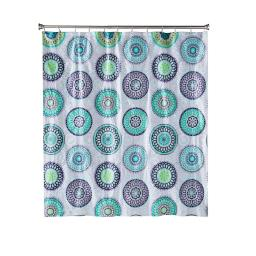 Image of Filigree Medallion PEVA Shower Curtain