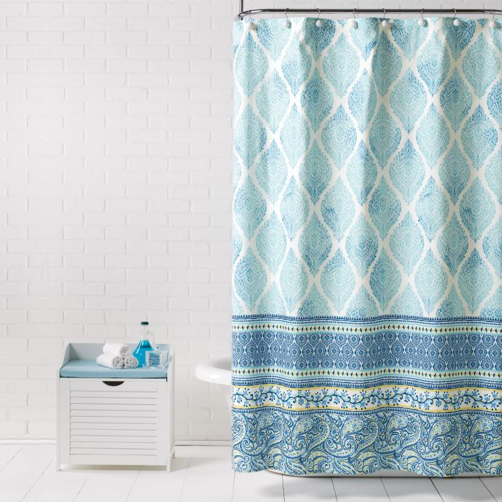 Picture of Boho Paisley Fabric Shower Curtain