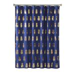 Image of Gilded Pineapple Fabric Shower Curtain