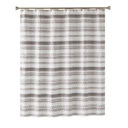 Image of Geo Fabric Shower Curtain