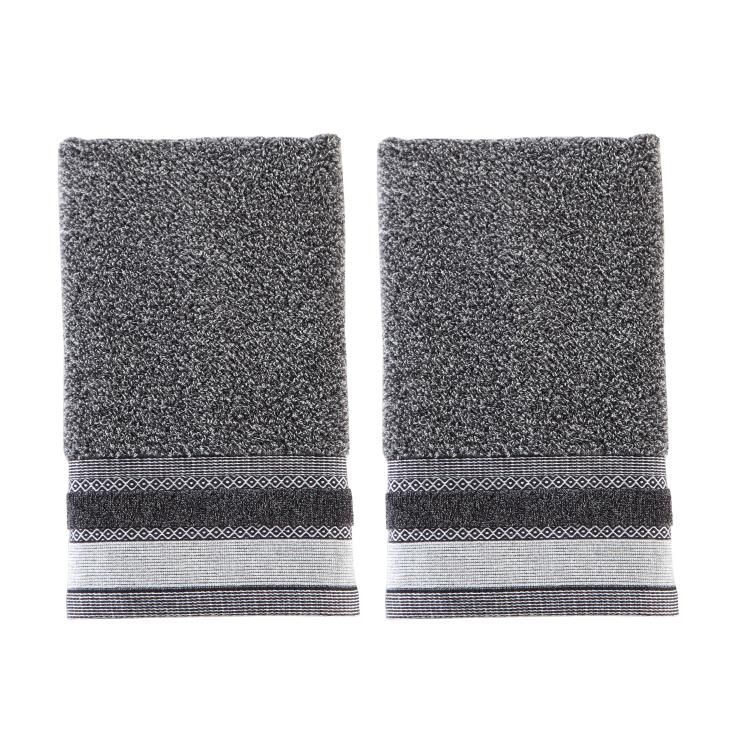 Picture of Geo 2-Piece Hand Towel Set in Slate