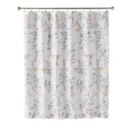 Image of Greenhouse Leaves Fabric Shower Curtain