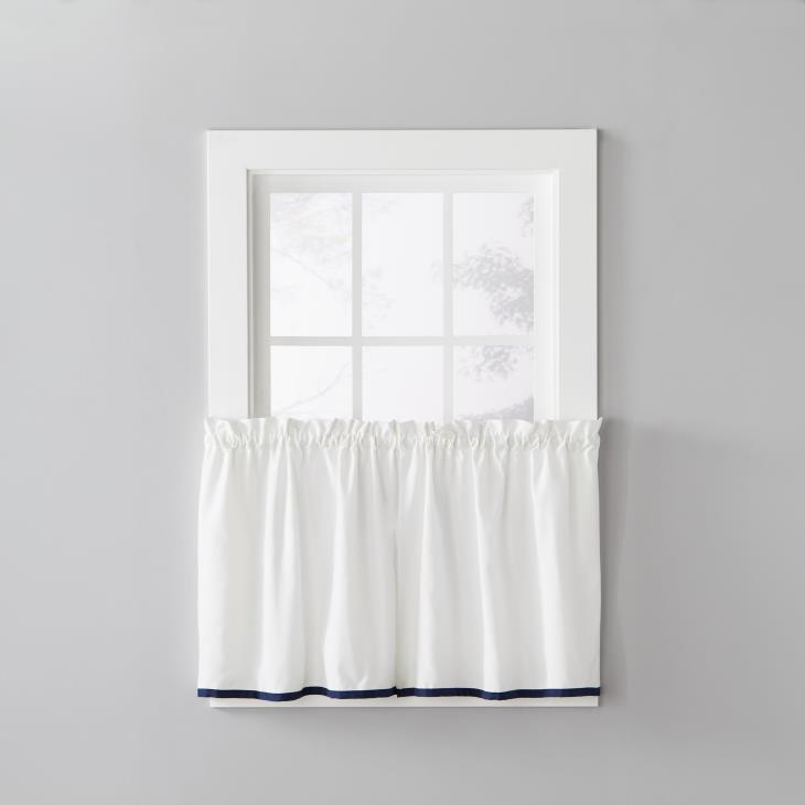 "Picture of Manor 36"" Window Tier Pair in Navy"
