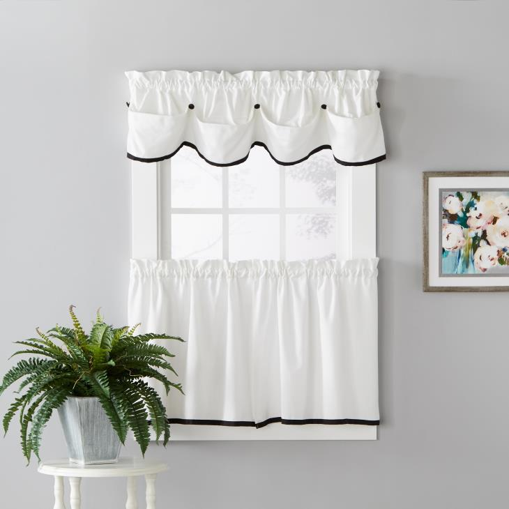 "Picture of Manor 13"" Window Valance in Black"