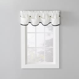 "Image of Manor 13"" Window Valance in Black"