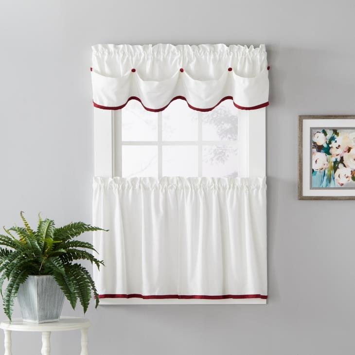 "Picture of Manor 13"" Window Valance in Berry"