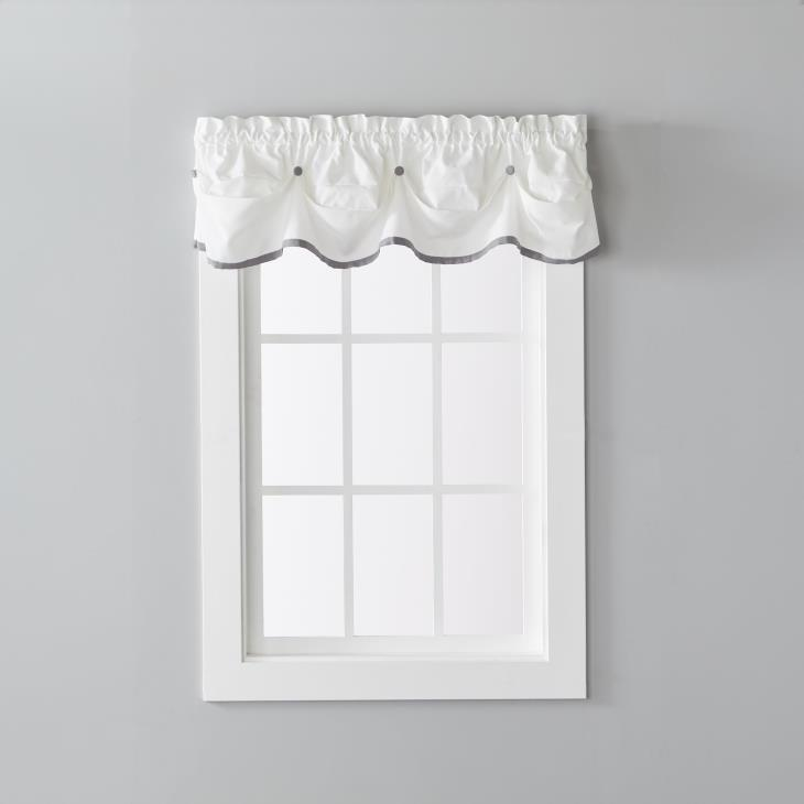 "Picture of Manor 13"" Window Valance in Dove Gray"